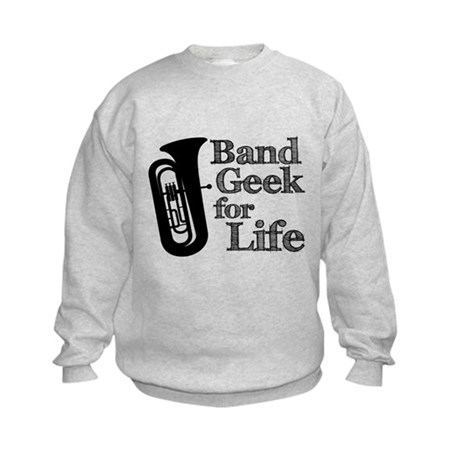 Tuba Band Geek Kids Sweatshirt