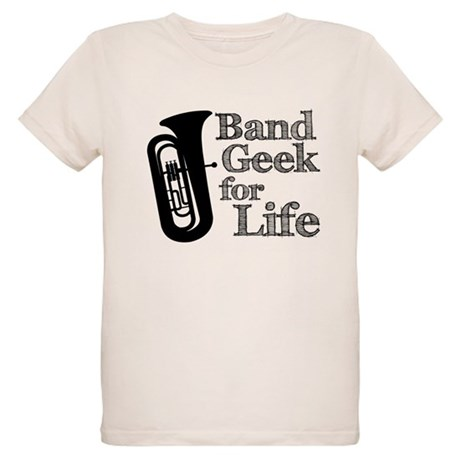 Tuba Band Geek Organic Kids T-Shirt
