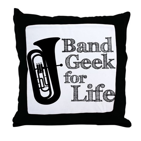 Tuba Band Geek Throw Pillow