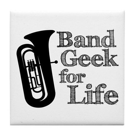 Tuba Band Geek Tile Coaster