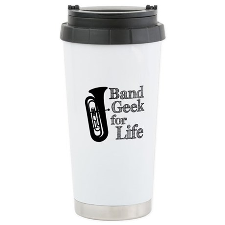 Tuba Band Geek Ceramic Travel Mug