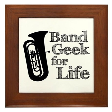 Tuba Band Geek Framed Tile