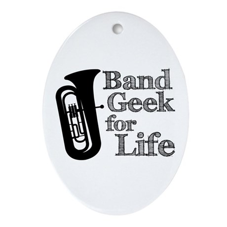 Tuba Band Geek Ornament (Oval)