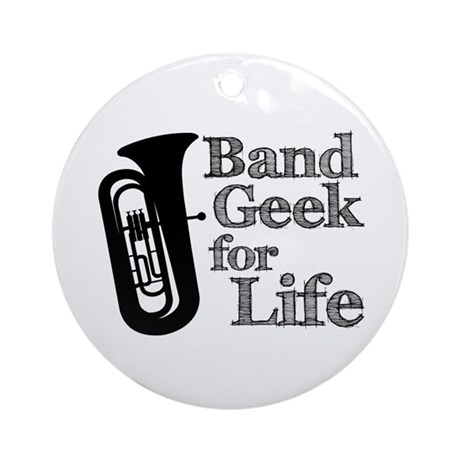 Tuba Band Geek Ornament (Round)