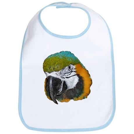 Blue an Gold Macaw Bib