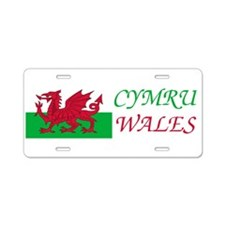 Unique Wales Aluminum License Plate