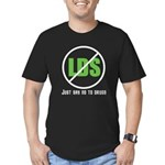 Too Much LDS Men's Fitted T-Shirt (dark)