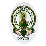 Joyce Clan Motto Oval Ornament