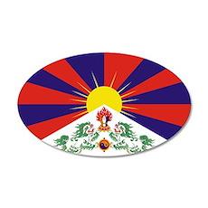 Free Tibet 22x14 Oval Wall Peel