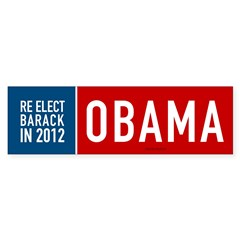 Re Elect Obama Bumper Sticker