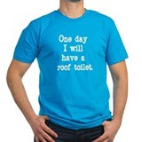 Men's Fitted Roof Toilet T-Shirt