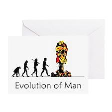 Evolution of Man - Bomb Greeting Card