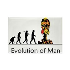 Evolution of Man - Bomb Rectangle Magnet (100 pack