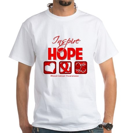 Blood Cancer Inspire Hope White T-Shirt