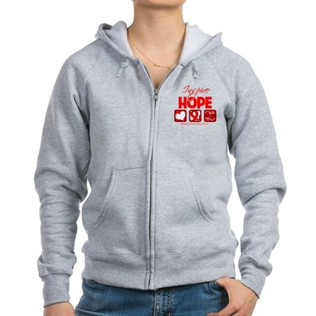 Blood Cancer Inspire Hope Women's Zip Hoodie