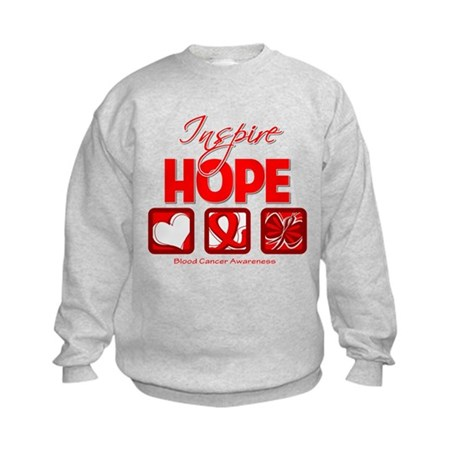 Blood Cancer Inspire Hope Kids Sweatshirt