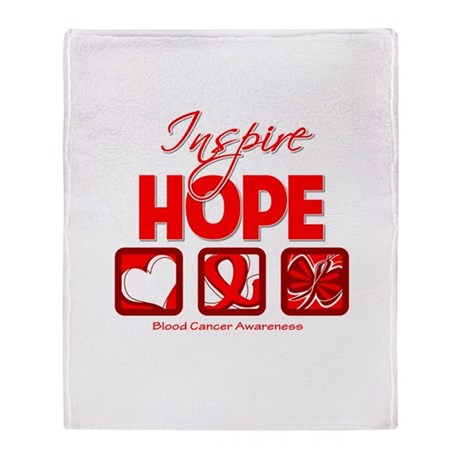 Blood Cancer Inspire Hope Throw Blanket