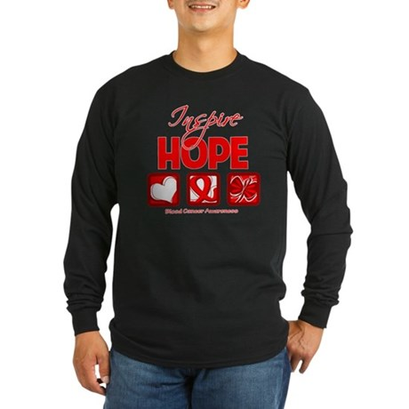 Blood Cancer Inspire Hope Long Sleeve Dark T-Shirt