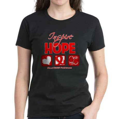 Blood Cancer Inspire Hope Women's Dark T-Shirt