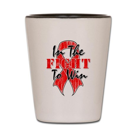 Blood Cancer In The Fight Shot Glass