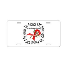 Blood Cancer In Honor Hero Aluminum License Plate