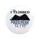 "I Climbed Pikes Peak 3.5"" Button"