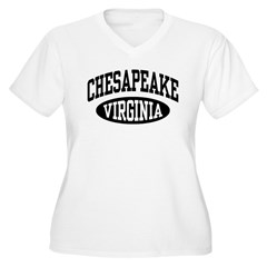Chesapeake Virginia Women's Plus Size V-Neck T-Shi