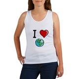 I Heart Earth Women's Tank Top