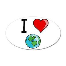 I Heart Earth 22x14 Oval Wall Peel