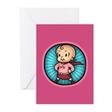Future Hero Girl Greeting Cards (Pk of 10)