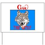 The Cherokee Wolf Yard Sign