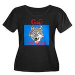 The Cherokee Wolf Women's Plus Size Scoop Neck Dar