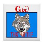 The Cherokee Wolf Tile Coaster