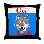 The Cherokee Wolf Throw Pillow