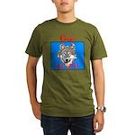 The Cherokee Wolf Organic Men's T-Shirt (dark)