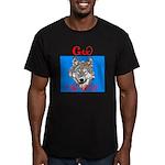 The Cherokee Wolf Men's Fitted T-Shirt (dark)
