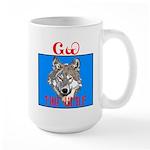 The Cherokee Wolf Large Mug