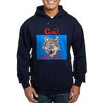 The Cherokee Wolf Hoodie (dark)