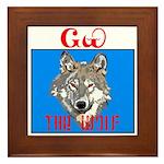 The Cherokee Wolf Framed Tile