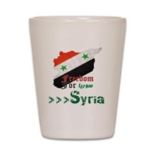 Freedom for Syria Shot Glass