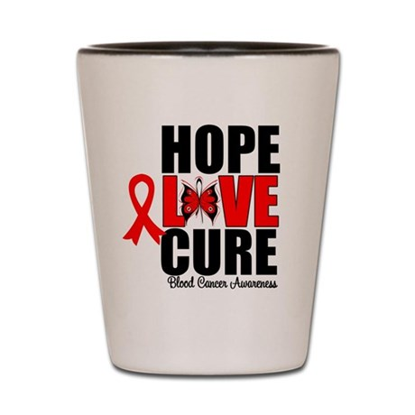 Blood Cancer HopeLoveCure Shot Glass