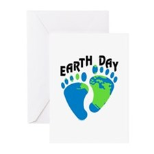 Earth Day Footprints Greeting Cards (Pk of 20)