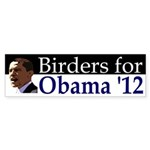 Birders for Obama 2012 bumper sticker