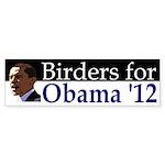 Birders for Obama 2012 bumper sticker