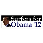 Surfers for Barack Obama '12 bumper sticker