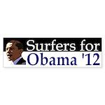Surfers for Barack Obama '12 bumper sticker
