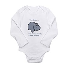 Not So Hungry Hippo Long Sleeve Infant Bodysuit