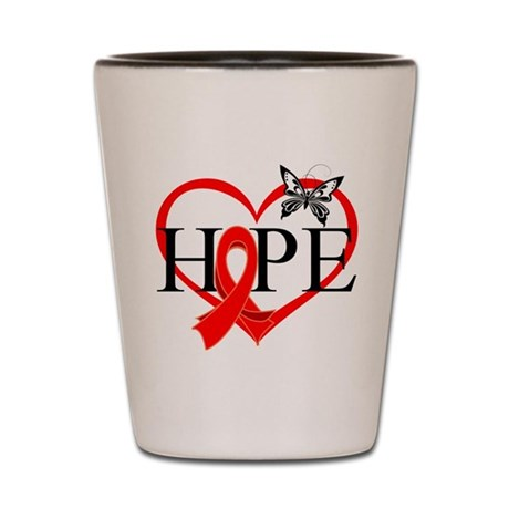 Blood Cancer Hope Shot Glass