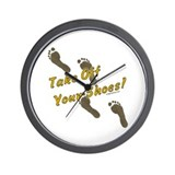Take off your shoes Wall Clock