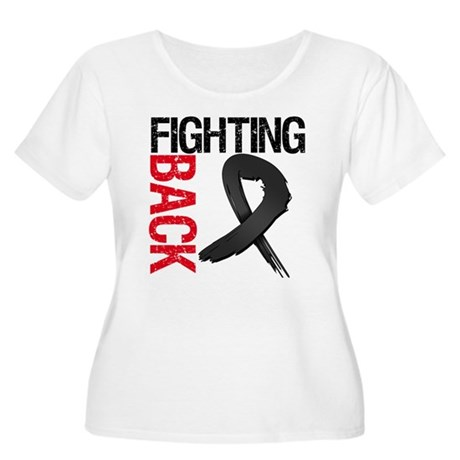 Fighting Back Melanoma Women's Plus Size Scoop Nec